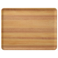 Carlisle 1216LWFG092 Customizable 12 inch x 16 inch Glasteel Wood Grain Butcher Block Dietary Fiberglass Tray - 12/Case