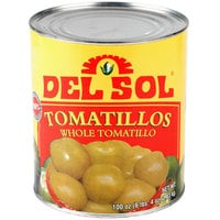 Del Sol #10 Can Whole Tomatillos - 6/Case
