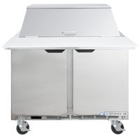 Beverage-Air SPE36HC-12M Elite Series 36 inch 2 Door Mega Top Refrigerated Sandwich Prep Table