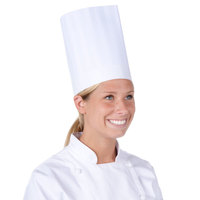 Chef Revival 9 inch Classic Travel Chef Toque Hat with Adjustable Head Band