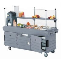 Cambro KVC856191 CamKiosk Granite Gray Vending Cart with 6 Pan Wells