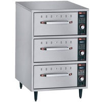 Hatco HDW-3N Freestanding Narrow Three Drawer Warmer - 120V, 1350W