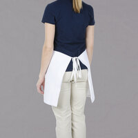 Chef Revival White Poly-Cotton Customizable Waist Apron - 17 inchL x 34 inchW