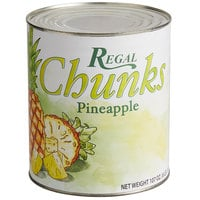 Regal #10 Can Pineapple Chunks in Natural Juice - 6/Case