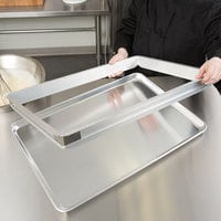 Baker's Mark 2 inch High Full-Size Aluminum Sheet Pan Extender