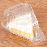 Polar Pak 5 inch Medium Dome Clear Hinged Slice Container - 300/Case