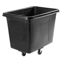 Rubbermaid 1867538 Black 12 Cu. Ft. Bulk Cube Truck (400 lb.) with Quiet Casters