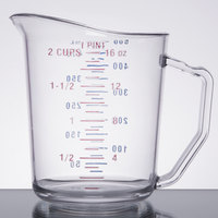 Cambro 50MCCW135 Camwear 1 Pint Clear Polycarbonate Measuring Cup