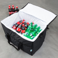 Choice Insulated Leak Proof Cooler Bag / Soft Cooler, Black Nylon 22 inch x 13 inch x 14 inch, with Foam Freeze Pack