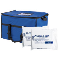 Choice Insulated Leak Proof Cooler Bag / Soft Cooler, Blue Nylon 22 inch x 13 inch x 14 inch, with Foam Freeze Pack