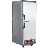 Metro C539-CLDS-U-GY C5 3 Series Insulated Low Wattage Full Size Heated Holding and Proofing Cabinet with Universal Wire Slides and Solid Dutch Doors - Gray