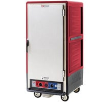 Metro C537-CLFS-U C5 3 Series Insulated Low Wattage 3/4 Size Heated Holding and Proofing Cabinet with Universal Wire Slides and Solid Door - Red