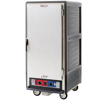 Metro C537-CLFS-L C5 3 Series Insulated Low Wattage 3/4 Size Heated Holding and Proofing Cabinet with Lip Load Aluminum Slides and Solid Door - Gray