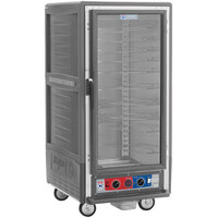 Metro C537-CLFC-U C5 3 Series Insulated Low Wattage 3/4 Size Heated Holding and Proofing Cabinet with Universal Wire Slides and Clear Door - Gray