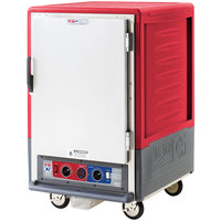 Metro C535-CLFS-L C5 3 Series Insulated Low Wattage Half Size Heated Holding and Proofing Cabinet with Lip Load Aluminum Slides and Solid Door - Red