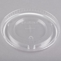Solo 636TS Clear Plastic Lid with Straw Slot - 500/Case
