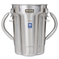Waring 023909 1 Gallon Stainless Steel Blender Jar with Two Handles for Blenders