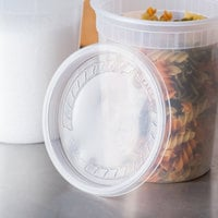 Solo MicroGourmet NL8RT-7000 Contact Clear Recessed Polypropylene Lid - 500/Case