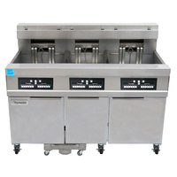 Frymaster 11814E/RE17/11814E 170 lb. High Production Electric Floor Fryer with CM3.5 Controls - 208V, 3 Phase, 17 kW