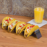 American Metalcraft HTSH5 Stainless Steel Half Size Taco Holder with Four or Five Compartments - 2 inch x 13 1/4 inch x 2 inch