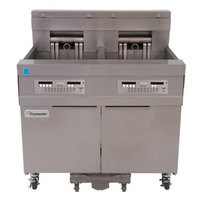 Frymaster 11814E 60 lb. High Production Electric Floor Fryer with CM3.5 Controls - 17 kW