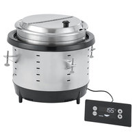 Vollrath 741101DW Mirage 11 Qt. Silver Drop-In Induction Warmer - 120V, 250W