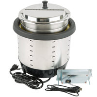 Vollrath 74701DW Mirage 7 Qt. Silver Drop-In Induction Warmer - 120V, 250W