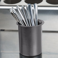 Steril-Sil PC-700-GRAY Gray Solid Plastic Flatware Cylinder