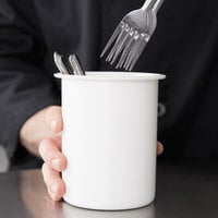 Steril-Sil PC-700-WHITE White Solid Plastic Flatware Cylinder