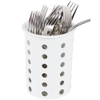 Steril-Sil RP-25-WHITE White Perforated Plastic Flatware Cylinder