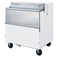 Beverage-Air SMF34HC-1-W-02 34 inch White 1-Sided Forced Air Milk Cooler with Stainless Steel Interior