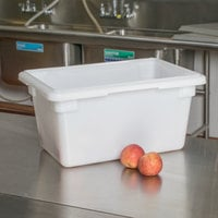 Cambro 12189P148 18 inch x 12 inch x 9 inch White Poly Food Storage Box