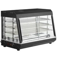 Avantco HDC-36 36 inch Self Service 3 Shelf Countertop Heated Display Case with Sliding Doors - 110V, 1500W