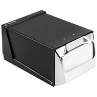 San Jamar H3001BKC Fullfold Countertop Napkin Dispenser - Chrome Face with Black Body