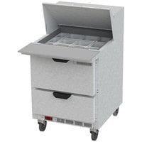 Beverage-Air SPED27HC-12M Elite Series 27 inch 2 Drawer Mega Top Refrigerated Sandwich Prep Table