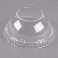 Dart 16LCDHX Clear PET Dome Lid with 2 inch Hole - 1000/Case
