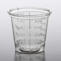 Solo P101M 1 oz. Disposable Translucent Polystyrene Graduated Medicine Cup   - 5000/Case