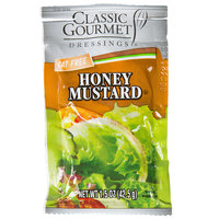 Classic Gourmet Honey Mustard Dressing 1.5 oz. Portion Packet - 60/Case