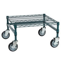 Regency 24 inch x 24 inch x 14 inch Green Epoxy Coated Mobile Dunnage Rack Kit with Tubular Frame - 600 lb. Capacity