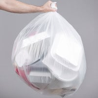 56 Gallon 22 Micron 43 inch x 48 inch Lavex Janitorial High Density Can Liner / Trash Bag - 150/Case