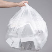 45 Gallon 12 Micron 40 inch x 48 inch Lavex Janitorial High Density Can Liner / Trash Bag - 250/Case