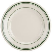 Homer Laughlin by Steelite International HL2011 Green Band Rolled Edge 6 1/4 inch Plate - 36/Case