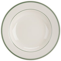 Homer Laughlin by Steelite International HL3801 Green Band Rolled Edge 20 oz. Pasta Bowl - 12/Case