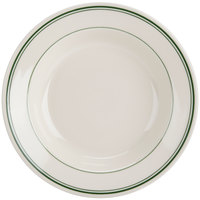 Homer Laughlin by Steelite International HL2531 Green Band Rolled Edge 12.75 oz. Soup Bowl - 24/Case