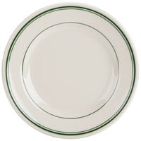 Homer Laughlin by Steelite International HL2031 Green Band Rolled Edge 7 1/8 inch Plate - 36/Case