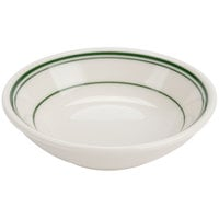 Homer Laughlin by Steelite International HL1631 Green Band Rolled Edge 6 oz. Fruit Bowl - 36/Case