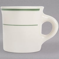 Homer Laughlin by Steelite International HL3001 Green Band Rolled Edge 8.75 oz. Mug - 36/Case