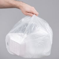 7 Gallon 6 Micron 20 inch x 22 inch Lavex Janitorial High Density Can Liner / Trash Bag - 2000/Case
