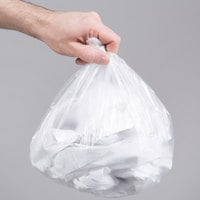 4 Gallon 6 Micron 17 inch x 18 inch Lavex Janitorial High Density Can Liner / Trash Bag - 2000/Case