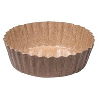 Solut 91068 5.7 oz. Kraft Oven Safe Paper Baking Cup with Extruded Polymer Coating - 1200/Case